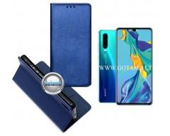 Re-Grid magnetinis dėklas Huawei P30 telefonams mėlynos spalvos