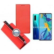 Re-Grid magnetinis dėklas Huawei P30 telefonams raudonos spalvos