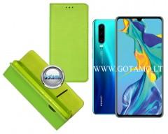 Re-Grid magnetinis dėklas Huawei P30 telefonams salotinės spalvos