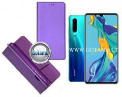 Re-Grid magnetinis dėklas Huawei P30 telefonams violetinės spalvos
