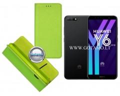 Re-Grid magnetinis dėklas Huawei Y6 (2018) Huawei Honor 7A telefonams salotinės spalvos
