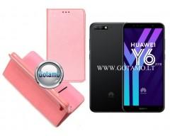Re-Grid magnetinis dėklas Huawei Y6 (2018) Huawei Honor 7A telefonams šviesiai rožinės spalvos