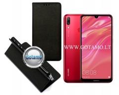 Re-Grid magnetinis dėklas Huawei Y7 (2019) telefonams juodos spalvos
