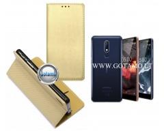 Re-Grid magnetinis dėklas Nokia 5.1 telefonams aukso spalvos