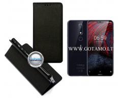 Re-Grid magnetinis dėklas Nokia 6.1 Plus telefonams juodos spalvos
