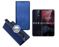 Re-Grid magnetinis dėklas Nokia 6.1 Plus telefonams mėlynos spalvos