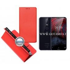Re-Grid magnetinis dėklas Nokia 6.1 Plus telefonams raudonos spalvos