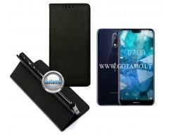 Re-Grid magnetinis dėklas Nokia 7.1 telefonams juodos spalvos