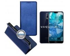 Re-Grid magnetinis dėklas Nokia 7.1 telefonams mėlynos spalvos