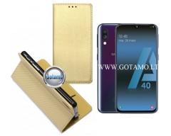 Re-Grid magnetinis dėklas Samsung Galaxy A40 telefonams aukso spalvos