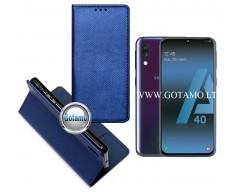 Re-Grid magnetinis dėklas Samsung Galaxy A40 telefonams mėlynos spalvos