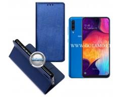 Re-Grid magnetinis dėklas Samsung Galaxy A50 telefonams mėlynos spalvos
