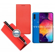 Re-Grid magnetinis dėklas Samsung Galaxy A50 telefonams raudonos spalvos
