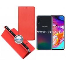 Re-Grid magnetinis dėklas Samsung Galaxy A70 telefonams raudonos spalvos