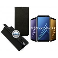Re-Grid magnetinis dėklas Samsung Galaxy A8 (2018) telefonams juodos spalvos