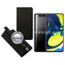 Re-Grid magnetinis dėklas Samsung Galaxy A80 telefonams juodos spalvos
