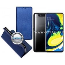 Re-Grid magnetinis dėklas Samsung Galaxy A80 telefonams mėlynos spalvos