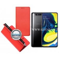 Re-Grid magnetinis dėklas Samsung Galaxy A80 telefonams raudonos spalvos