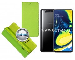 Re-Grid magnetinis dėklas Samsung Galaxy A80 telefonams salotinės spalvos