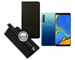 Re-Grid magnetinis dėklas Samsung Galaxy A9 (2018) telefonams juodos spalvos