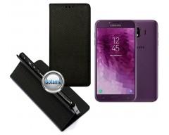Re-Grid magnetinis dėklas Samsung Galaxy J4 (2018) telefonams juodos spalvos