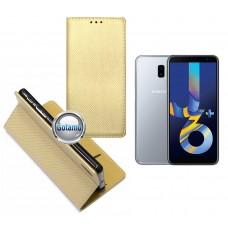 Re-Grid magnetinis dėklas Samsung Galaxy J6+ (2018) telefonams aukso spalvos