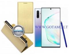 Re-Grid magnetinis dėklas Samsung Galaxy Note 10+ mobiliesiems telefonams aukso spalvos