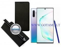 Re-Grid magnetinis dėklas Samsung Galaxy Note 10+ mobiliesiems telefonams juodos spalvos