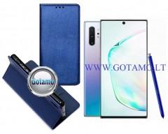 Re-Grid magnetinis dėklas Samsung Galaxy Note 10+ mobiliesiems telefonams mėlynos spalvos