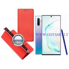 Re-Grid magnetinis dėklas Samsung Galaxy Note 10+ mobiliesiems telefonams raudonos spalvos