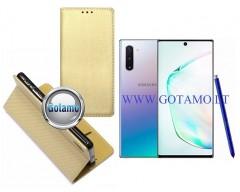 Re-Grid magnetinis dėklas Samsung Galaxy Note 10 telefonams aukso spalvos