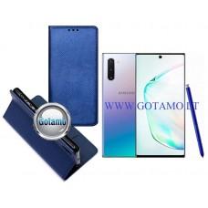 Re-Grid magnetinis dėklas Samsung Galaxy Note 10 telefonams mėlynos spalvos