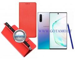 Re-Grid magnetinis dėklas Samsung Galaxy Note 10 telefonams raudonos spalvos