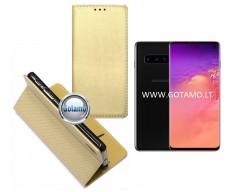 Re-Grid magnetinis dėklas Samsung Galaxy S10 telefonams aukso spalvos