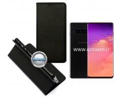 Re-Grid magnetinis dėklas Samsung Galaxy S10 telefonams juodos spalvos