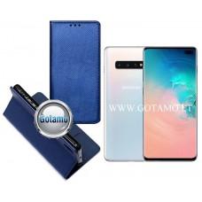 Re-Grid magnetinis dėklas Samsung Galaxy S10+ telefonams mėlynos spalvos
