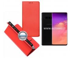 Re-Grid magnetinis dėklas Samsung Galaxy S10 telefonams raudonos spalvos