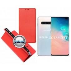 Re-Grid magnetinis dėklas Samsung Galaxy S10+ telefonams raudonos spalvos
