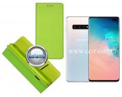 Re-Grid magnetinis dėklas Samsung Galaxy S10+ telefonams salotinės spalvos