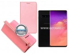 Re-Grid magnetinis dėklas Samsung Galaxy S10 telefonams šviesiai rožinės spalvos