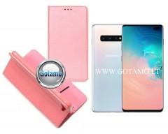 Re-Grid magnetinis dėklas Samsung Galaxy S10+ telefonams šviesiai rožinės spalvos