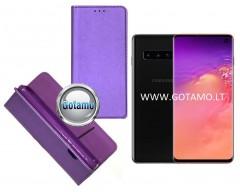 Re-Grid magnetinis dėklas Samsung Galaxy S10 telefonams violetinės spalvos