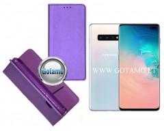 Re-Grid magnetinis dėklas Samsung Galaxy S10+ telefonams violetinės spalvos