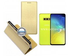 Re-Grid magnetinis dėklas Samsung Galaxy S10e telefonams aukso spalvos