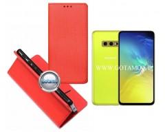 Re-Grid magnetinis dėklas Samsung Galaxy S10e telefonams juodos spalvos
