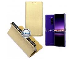 Re-Grid magnetinis dėklas Sony Xperia 1 Sony Xperia XZ4 mobiliesiems telefonams aukso spalvos