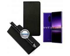 Re-Grid magnetinis dėklas Sony Xperia 1 Sony Xperia XZ4 mobiliesiems telefonams juodos spalvos