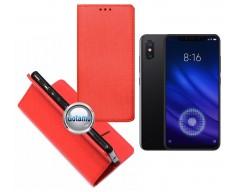 Re-Grid magnetinis dėklas Xiaomi Mi 8, Xiaomi Mi 8 Pro telefonams raudonos spalvos