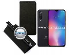 Re-Grid magnetinis dėklas Xiaomi Mi 9 SE telefonams juodos spalvos
