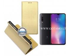 Re-Grid magnetinis dėklas Xiaomi Mi 9 telefonams aukso spalvos